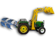 Tractor Mounted Mini Loader with Hydraulic Multi Plough